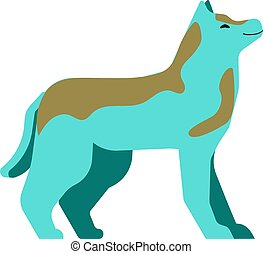 Brown Blue dog isolated on a white background.