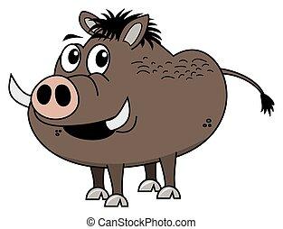 brown boar profile