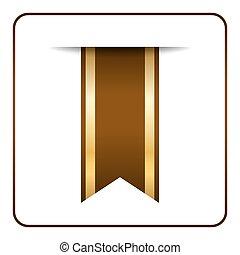 Brown bookmark banner