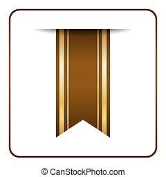 Brown bookmark banner Color gold