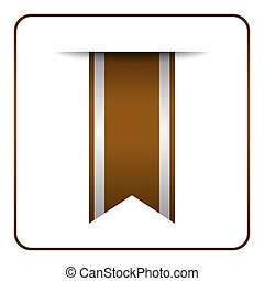 Brown bookmark banner Color tag
