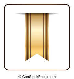 Brown bookmark banner gold