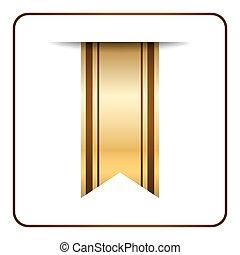Brown bookmark banner gold