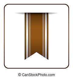 Brown bookmark banner tag