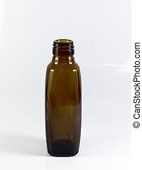 Brown Bottle in white Background