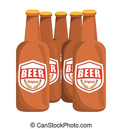 brown bottles of beer icon image