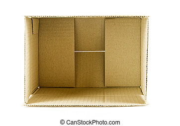 brown box - Brown box isolation of a white background.