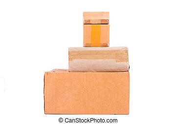 brown box carton