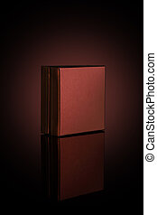 Brown Box for Mockups Isolated on Dark Background