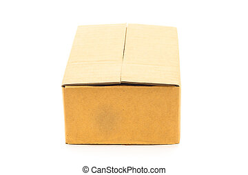 Brown box isolated on white background