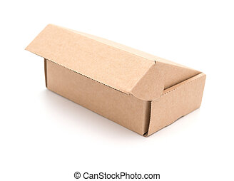 brown box on a white background