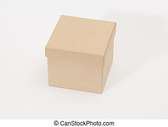 Brown box on white background