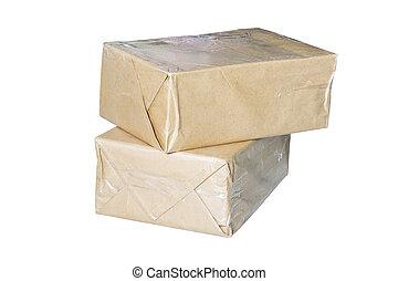 Brown box preparing to send the mail.
