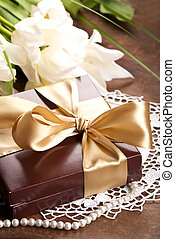 brown box with candies