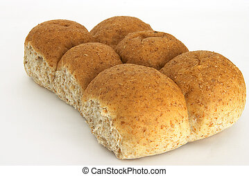 Brown bread rolls - Wheatmeal rolls, fresh from the oven