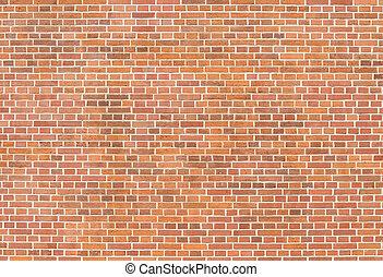 Brown brick block wall pattern