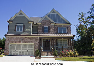 Brown Brick House with Private Residence Sign