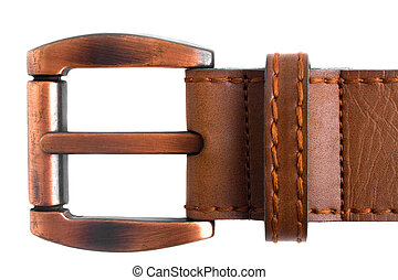 Brown buckle on a white background