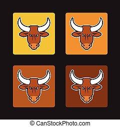 brown bull set