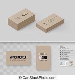 Branding Mock Up - Brown Business Cards Template. Branding ...