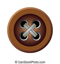 Brown Button