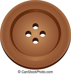 Brown button for clothes
