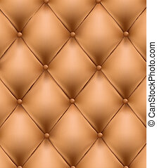 Brown button-tufted background - Brown button-tufted leather...