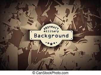 Brown camouflage military pattern background. Vector illustration, EPS10