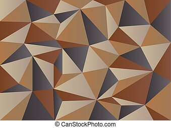 Brown Camouflage Polygon background