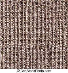 Brown canvas texture or background. Seamless square texture. Til