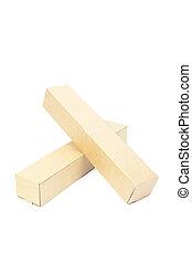 Brown cardboard cylinder.