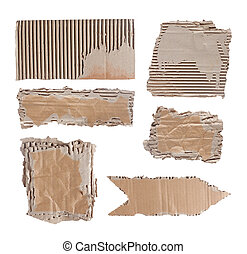 brown cardboard paper over white background