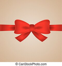 brown cardboard with red bow