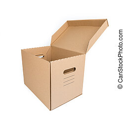 Brown Carton Box Isolated on white
