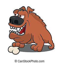 Brown cartoon dog