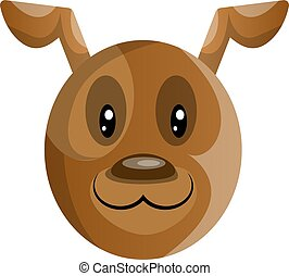 Brown cartoon dog vector illustartion on white background