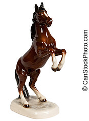 brown ceramic figurine of a horse