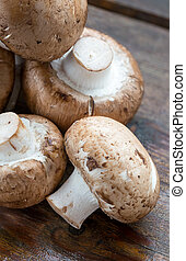 Brown Champignons Mushrooms