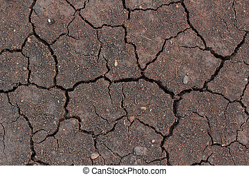 Brown chapped soil background