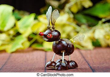 brown chestnut animal figure