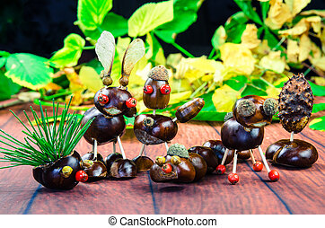 brown chestnut figures