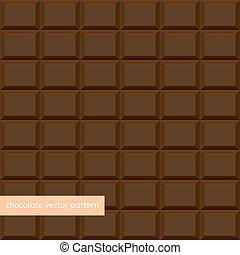 Brown Chocolate Bar Seamless
