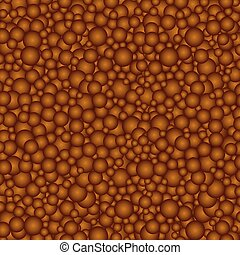 brown chocolate circles background