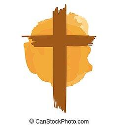 Brown Christianity Cross