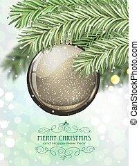 Brown Christmas ball
