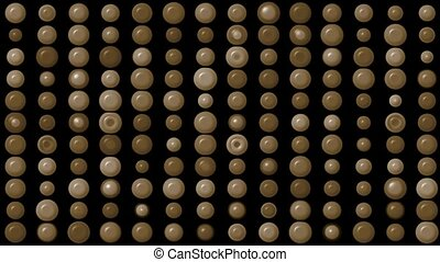 brown circle array background