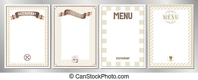 Brown classic, retro, vintage restaurant menu templates - A4 format (210x297 mm)