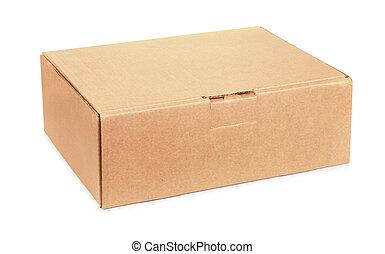 Brown closed cardboard box