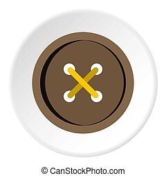 Brown clothing button icon circle