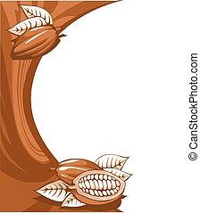 brown cocoa bean still life abstrac